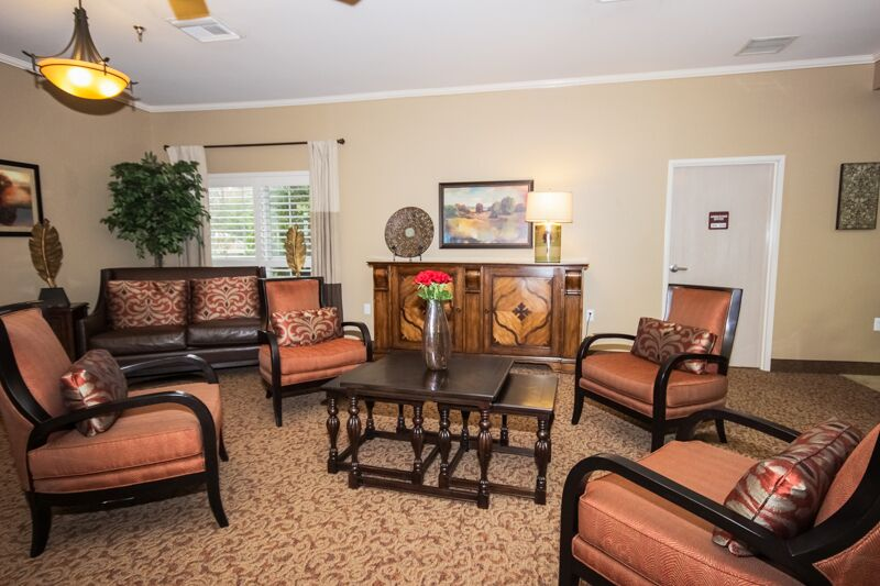 Premier furniture in the lobby and rooms. Excellent for visiting friends and loved ones and ensures a comfortable admissions process.